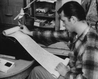 Kerouac reading scroll